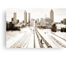 Atlanta Snowpocalypse 2014 - Rick Grimes on Freedom Parkway Canvas Print