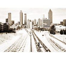 Atlanta Snowpocalypse 2014 - Rick Grimes on Freedom Parkway Photographic Print