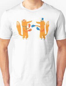 Posh Foxes like to Box while wearing Socks Unisex T-Shirt