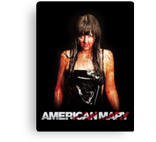 American Mary - Katharine Isabelle Canvas Print