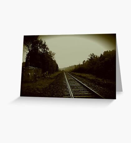 Tracks in Parry Sound Greeting Card