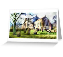 Tanfield Church, Stanley, Co. Durham Greeting Card