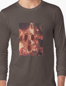 Skull Burning Long Sleeve T-Shirt
