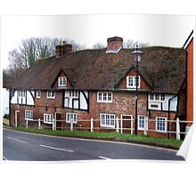 Cottages in the Village of Wickham  Poster