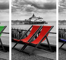 Pier and deckchairs x3 by AndyHuntley