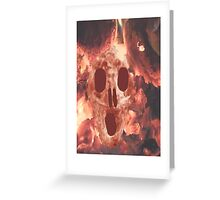 Skull Burning Greeting Card