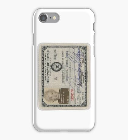 Monroe Dept of Defense Card iPhone Case/Skin