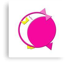 Baby Bird Pink Canvas Print