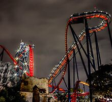 SheiKra at Night by Matt Hopkins