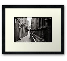 Up Our Alley Framed Print