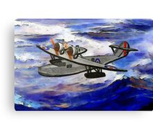 A digital painting of A Saro Cloud A29 of the Royal Air Force Canvas Print
