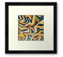 flag-abstract Framed Print