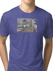 A Day at the Beach © Tri-blend T-Shirt