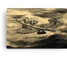 A sepia digital painting of A Saro Cloud A29 of the Royal Air Force Canvas Print