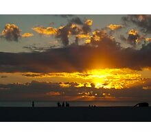 A Silhouette Sunset Photographic Print