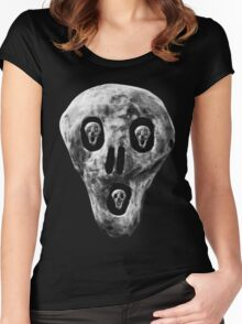 Skulls - Fear Women's Fitted Scoop T-Shirt