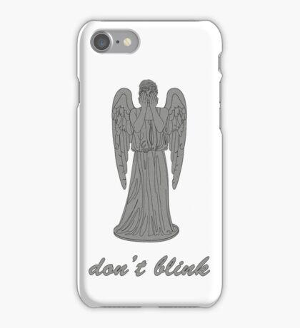 Weeping Angel -Don't Blink (script font) iPhone Case/Skin