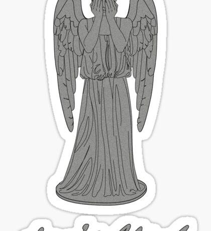 Weeping Angel -Don't Blink (script font) Sticker