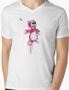Teddy Bear Breaking Mens V-Neck T-Shirt
