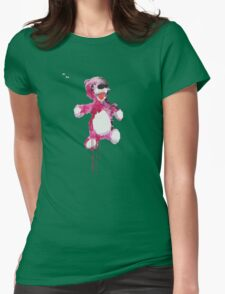 Teddy Bear Breaking Womens Fitted T-Shirt