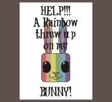 HELP!!! A Rainbow threw up on my BUNNY! Kids Clothes