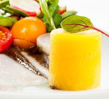 Yellow Beet Salad Close Up by Jerry Deutsch