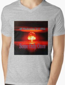 Famous humourous quotes series: Atomic mushroom explosion  Mens V-Neck T-Shirt