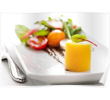 Yellow Beet Salad and Fork Poster