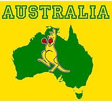 Aussie Boxing Kangaroo Photographic Print