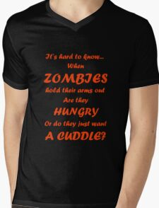 Hungry or Cuddle? Mens V-Neck T-Shirt