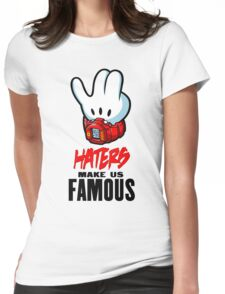 Mickey Hand Famous  Womens Fitted T-Shirt