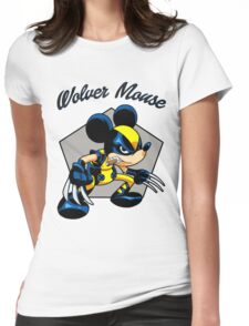 Wolver Mouse Womens Fitted T-Shirt