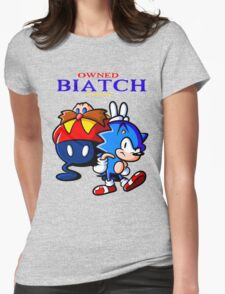Sonic Owned Biatch Womens Fitted T-Shirt