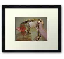 Beauty and the Beast! Framed Print