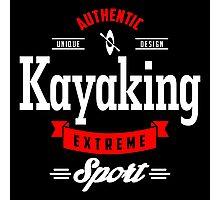 Kayaking Extreme Sport W&R Art Photographic Print