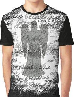 Weeping Angel -Don't Blink (scatter script) Graphic T-Shirt