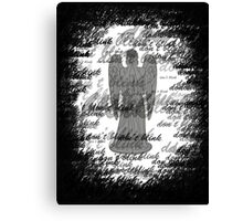 Weeping Angel -Don't Blink (scatter script) Canvas Print