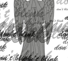 Weeping Angel -Don't Blink (scatter script) Sticker