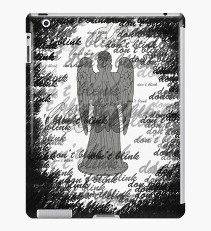 Weeping Angel -Don't Blink (scatter script) iPad Case/Skin