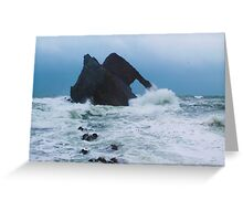 Bow fiddle Rock waves Greeting Card
