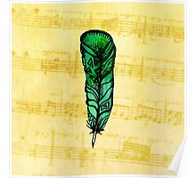Musical Feather Poster