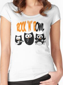 Rock'n'R-OWL Women's Fitted Scoop T-Shirt