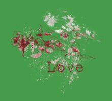 Romantic Pen and Ink Roses One Piece - Short Sleeve