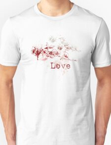 Romantic Pen and Ink Roses Unisex T-Shirt