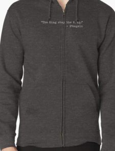 "The Wire - ""The King stay the King."" Zipped Hoodie"
