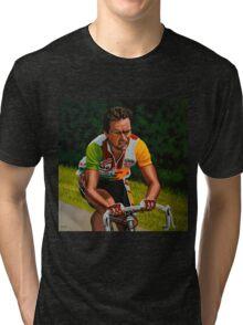 Bernard Hinault painting Tri-blend T-Shirt