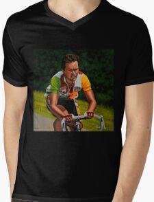 Bernard Hinault painting Mens V-Neck T-Shirt