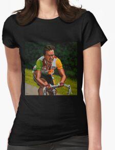 Bernard Hinault painting Womens Fitted T-Shirt