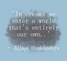 Harry Potter Quote - Dumbledore 'in dreams..' by CaramelCookies