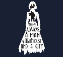 A Man, a Lighthouse and a City T-Shirt